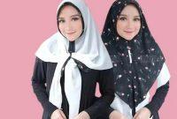 Sku0000029 Jual Hijab Terbaik Modern Jilbab Instant 2 Tone Airin Kerudung Segitiga Instan