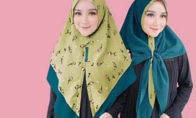 Sku0000029 Jual Hijab Terbaik Modern Jilbab Instant 2 Tone Airin Kerudung Segitiga Instan Pic2