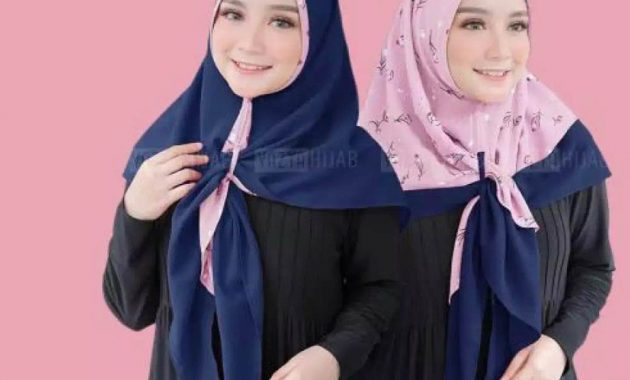 Sku0000029 Jual Hijab Terbaik Modern Jilbab Instant 2 Tone Airin Kerudung Segitiga Instan Pic4