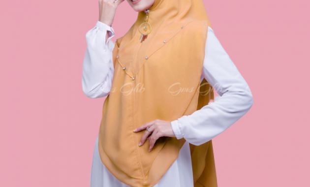 Sku0000030 Khimar Swarovski Clarissa Hijab Syari Jilbab Syari Kerudung Instan Pic5
