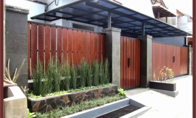 Contoh Gambar Desain Pagar Rumah Baja Ringan Terbaru