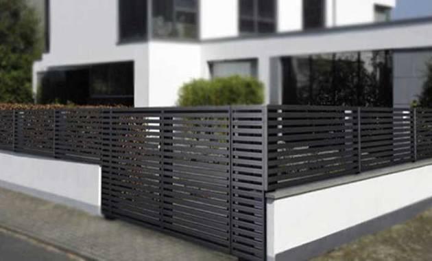 Model Pagar Rumah Minimalis Besi Dan Kayu Desain Apik