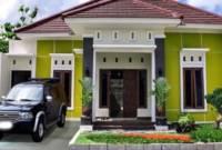 Bagian Depan Kombinasi Warna Cat Rumah Hijau Muda
