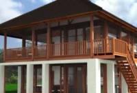 Bentuk Rumah Kayu Sederhana Tapi Elegan