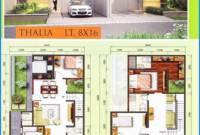Denah Rumah Minimalis 2 Lantai Modern Type 45