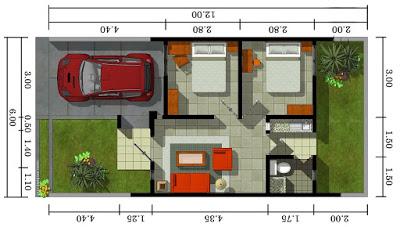 denah rumah minimalis type 36 1 lantai - content