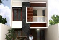 Sederhana Tampak Depan Rumah Minimalis 2 Lantai Lebar 6 Meter