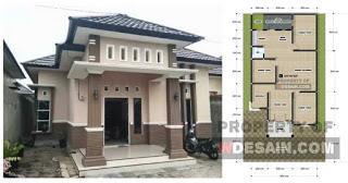 contoh rumah 3 kamar tidur 1 mushola