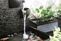 Air Mancur Model Kolam Ikan Minimalis Depan Rumah