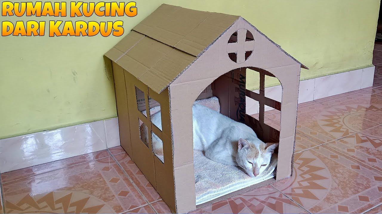 Cara Membuat Rumah Dari Kardus Untuk Kucing - Content