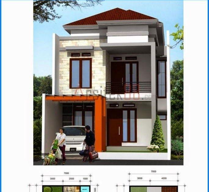 Denah Rumah 2 Lantai Minimalis Ukuran 6x12 - Content