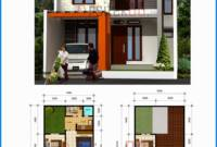 Denah Rumah Desain Rumah Minimalis Modern 2 Lantai