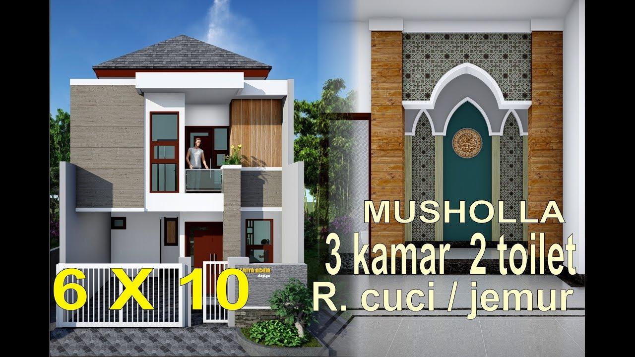 Denah Rumah Minimalis 6x10 3 Kamar 2 Lantai Content