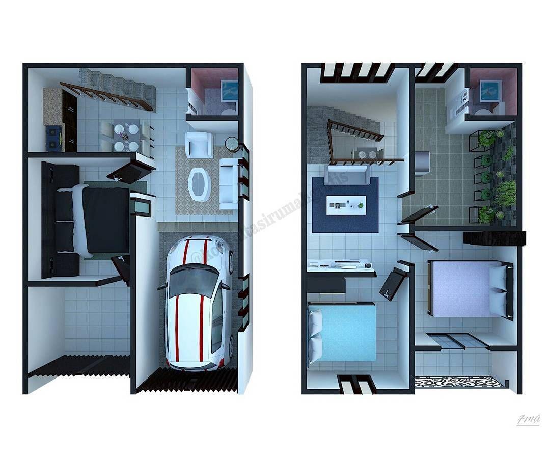 Denah Rumah Type 36 2 Lantai 3d - Content