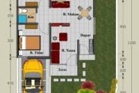 Denah Rumah Type 45 Minimalis Modern