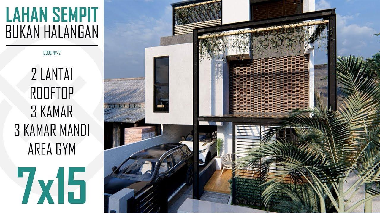Desain Rumah 2 Lantai Minimalis Industrial Content
