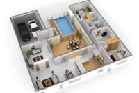 Desain Rumah Minimalis 1 Lantai Dengan Kolam Renang