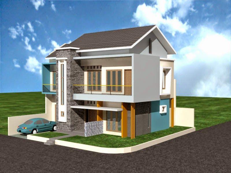 Desain Rumah Minimalis 2 Lantai Type 36 Pojok - Content