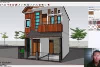 Desain Rumah Minimalis Modern 2 Lantai Ukuran 6x8