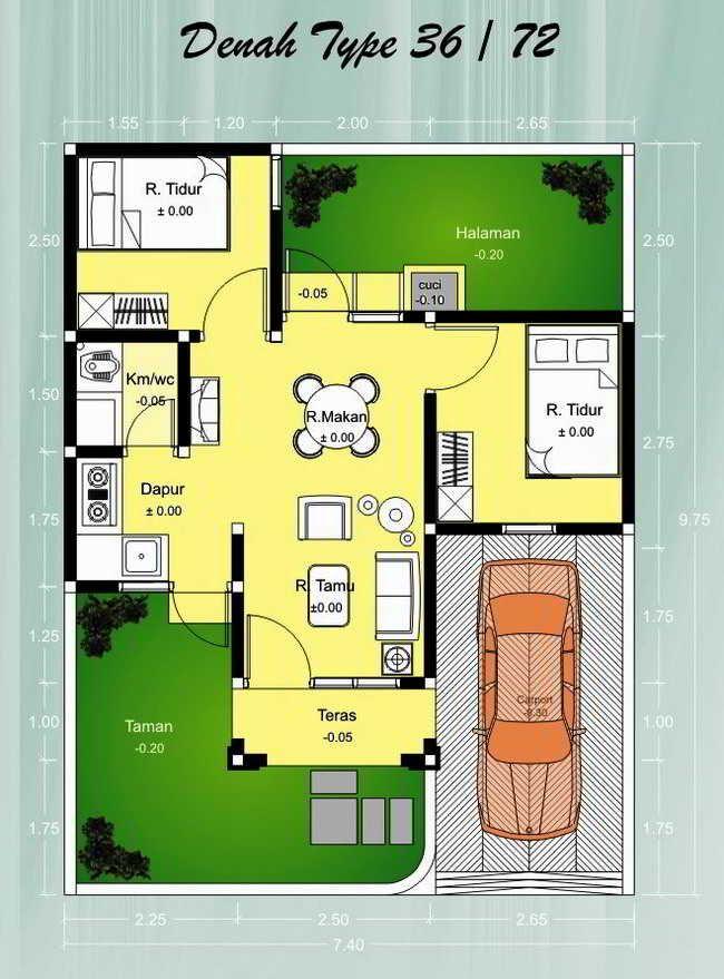 Desain Rumah Minimalis Type 36 72 1 Lantai - Content