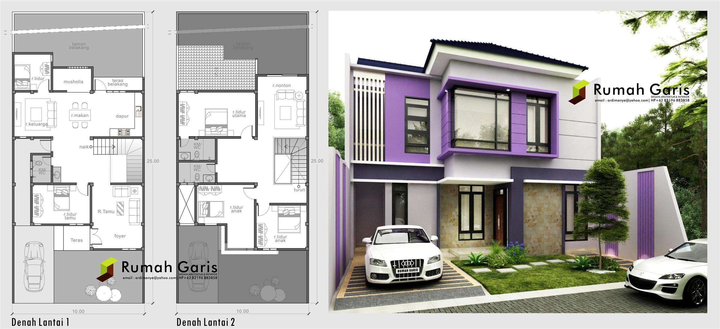 Desain Rumah Modern 2 Lantai Beserta Denahnya - Content