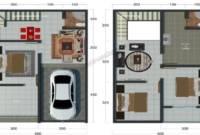 Desain Rumah Type 36 2 Lantai Sederhana