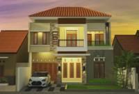 Gambar Rumah Mewah Minimalis 2 Lantai Tampak Depan