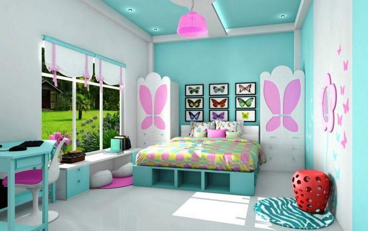 Kombinasi Warna Cat Rumah Hijau Tosca Dan Pink - Content
