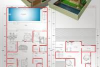 Mewah Minimalis Denah Rumah Mewah 2 Lantai Dengan Kolam Renang 3d