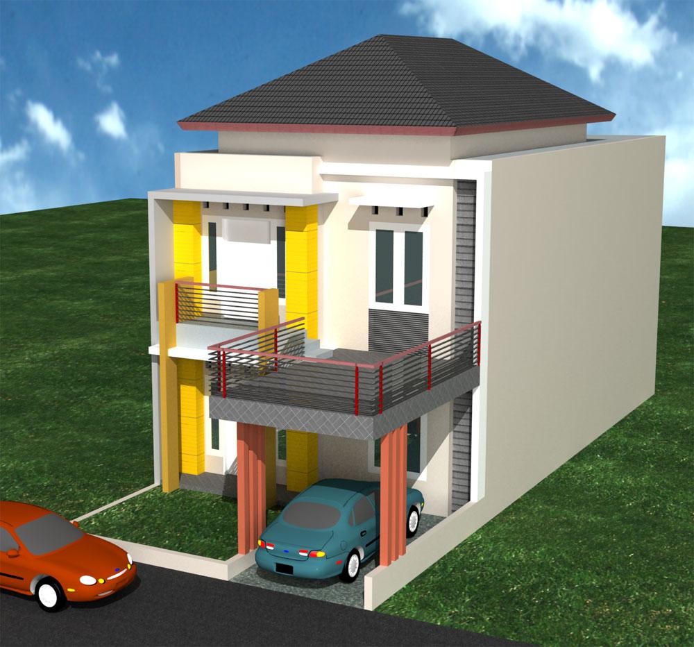 Minimalis Type 36 Desain Rumah 2 Lantai Minimalis Modern ...