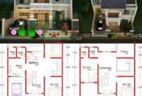 Rumah Mewah Desain Rumah Modern 2 Lantai Beserta Denahnya