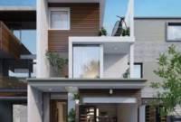 Rumah Minimalis 2 Lantai Modern Type 45