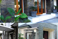Rumah Minimalis Keramik Batu Alam Untuk Tiang Teras