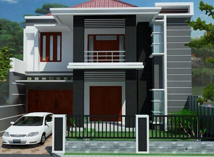 Teras Model Rumah Minimalis 2 Lantai Tampak Depan Terbaru ...