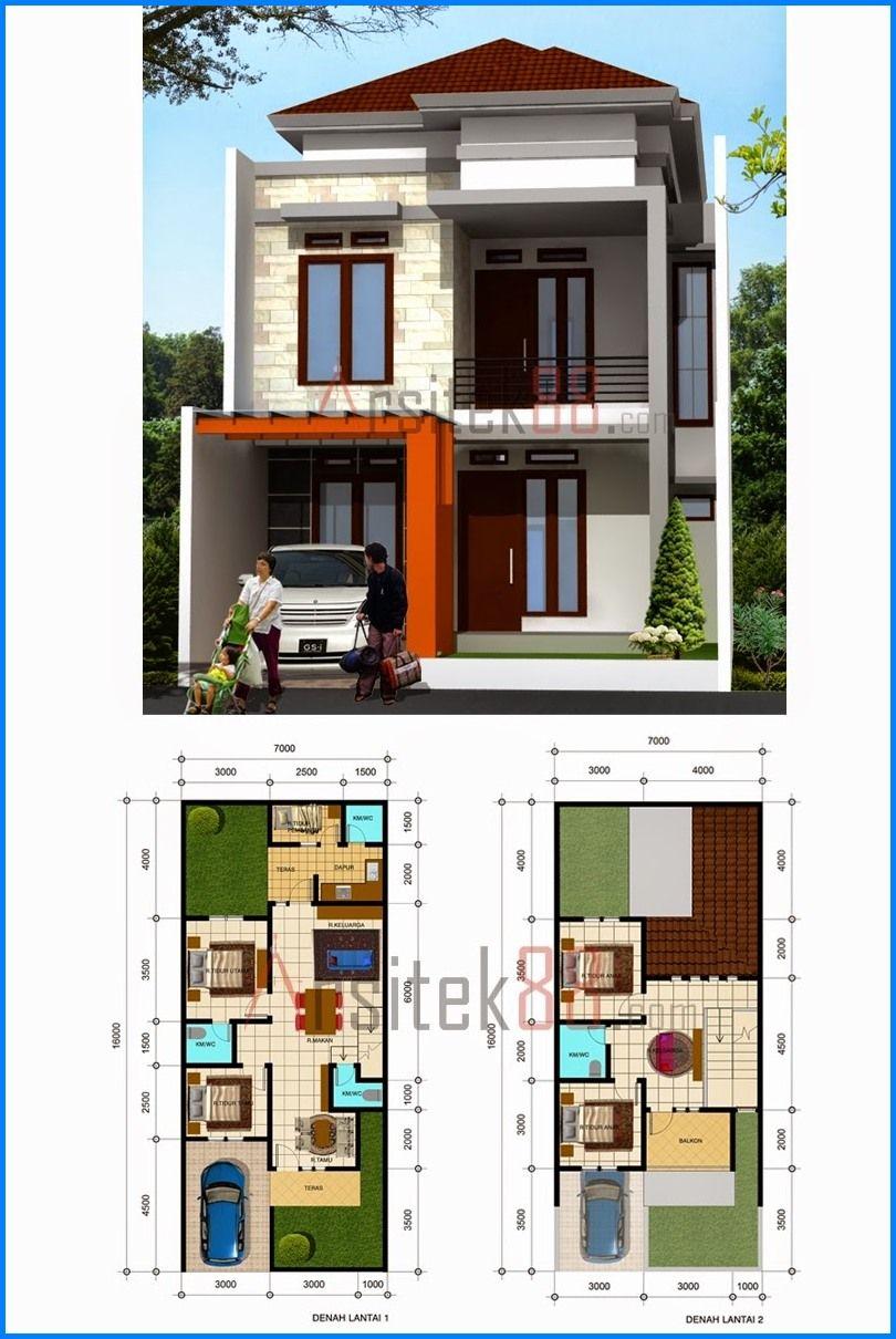 Ukuran 8x12 Denah Rumah Minimalis 2 Lantai - Content