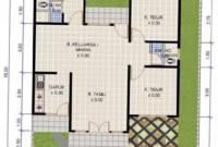 Ukuran Denah Rumah Sederhana 3 Kamar Tidur