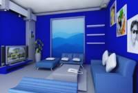 Warna Cat Rumah Bagian Dalam Biru