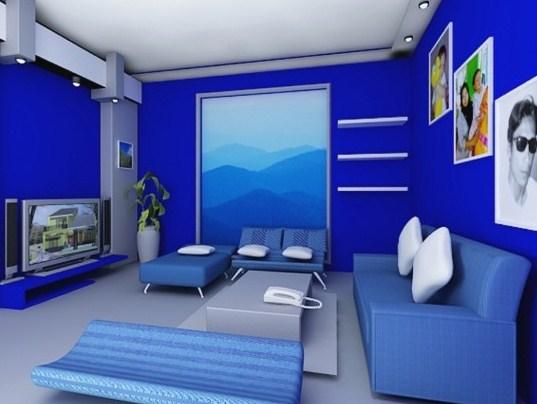 Warna Cat Rumah Bagian Dalam Biru - Content