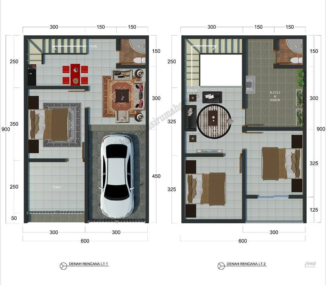 Desain Rumah Type 36 2 Lantai 3d Content