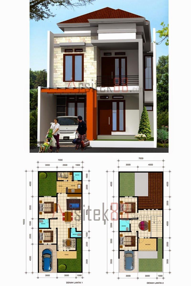 Gambar Rumah Minimalis 2 Lantai Ukuran 5x7 Content