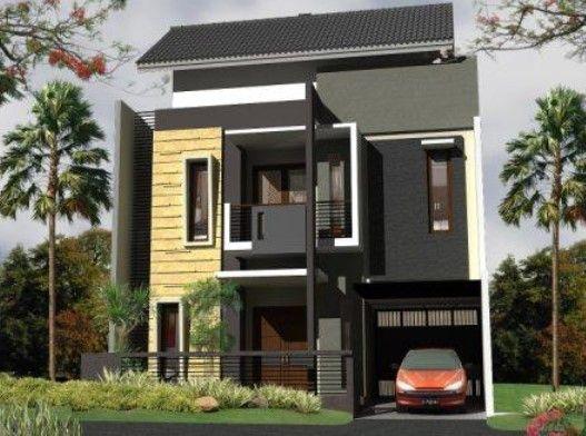 Minimalis Modern Tampak Depan Rumah Minimalis 2 Lantai ...