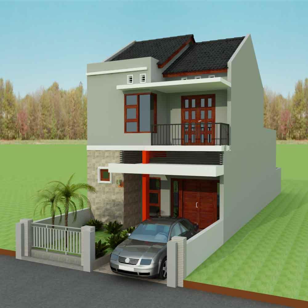 Model Rumah Minimalis 2 Lantai Sederhana Type 36 Content