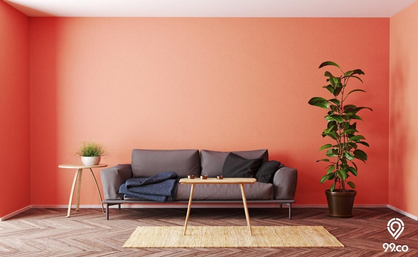 ruang tamu warna cat rumah bagian dalam yang cerah