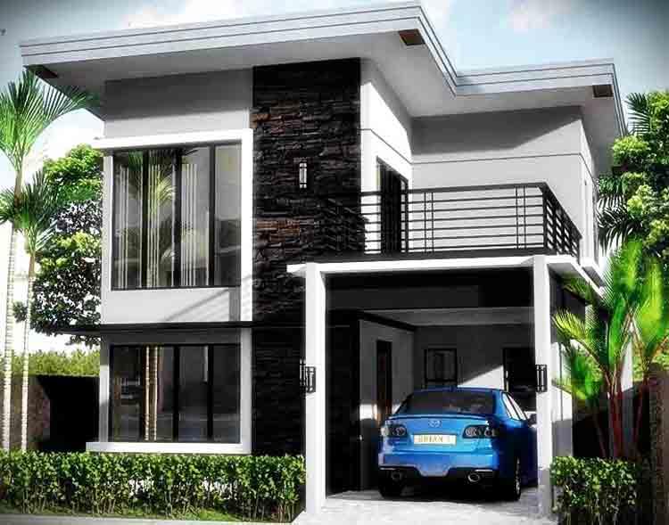 Rumah Minimalis Modern 2 Lantai Dengan Garasi - Content