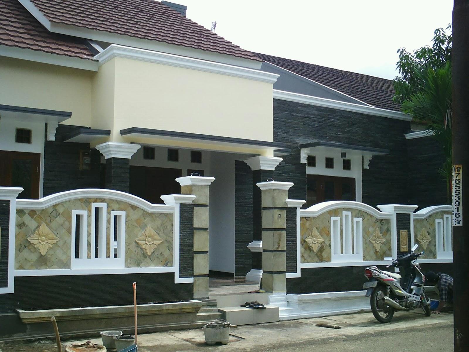 14 Desain Pagar Rumah Minimalis Dari Batu Alam Terbaru Plafon Gypsum Larantuka
