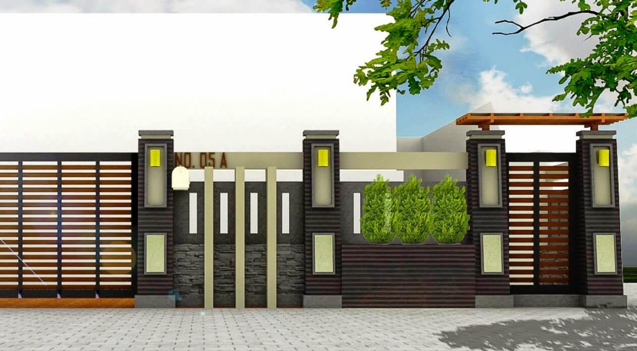 Model Pagar Rumah Minimalis Modern Terbaru 2019