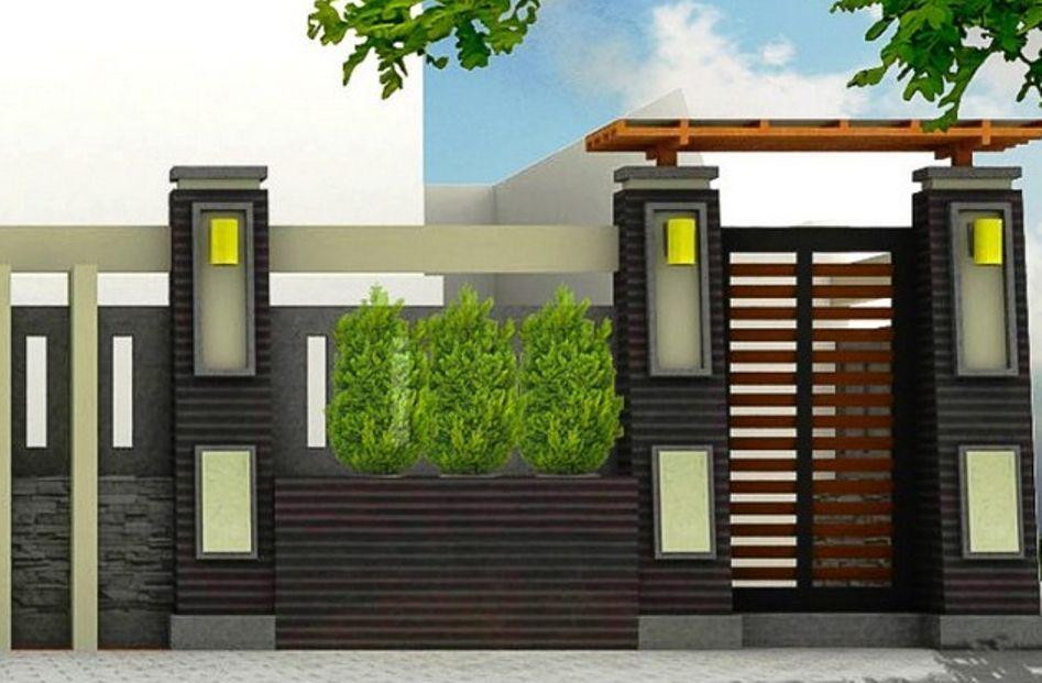 Model Pagar Rumah Minimalis Dengan Gapura Cantik Sarumpun