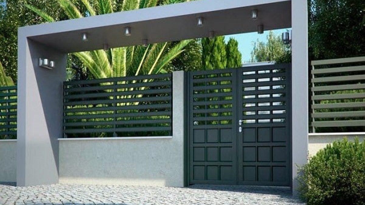 25 Desain Pagar Besi Minimalis Dengan Tampilan Modern Kekinian