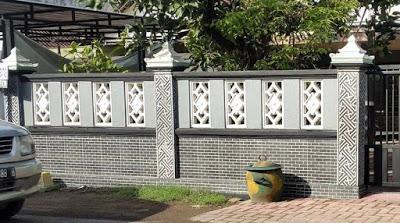 Contoh Pagar Tembok Depan Rumah Minimalis Rumah Joglo Limasan Work