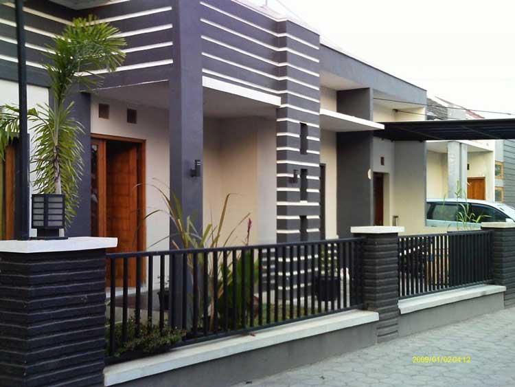 60 Model Pagar Rumah Minimalis Besi Dan Kayu Desain Apik
